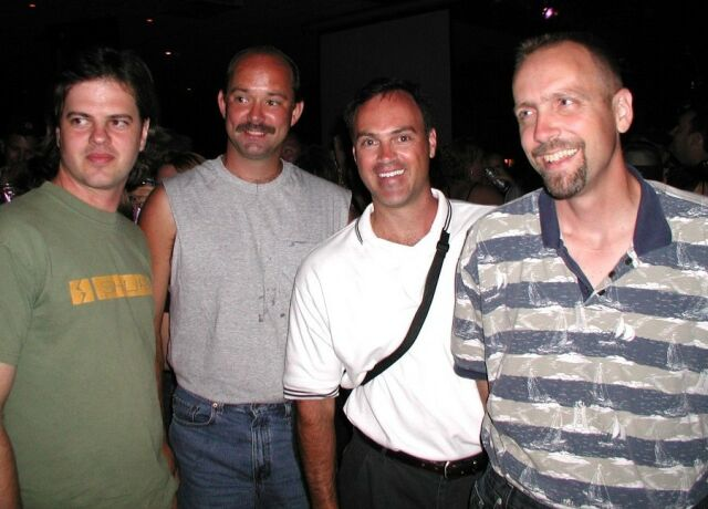 Aereon 2002 - Dave Clo, Cody Romshak, Mark Puskarich, Lorne VanFossen at Put In Bay, OH, August 2002