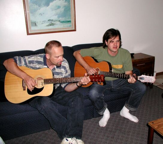 Lorne and Dave jam at Put-In-Bay, Ohio, August, 2002.